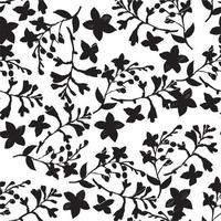 Flower branches with leaves design seamless pattern vector