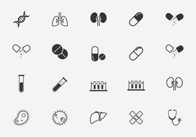 set of medical isolated icons for graphic and website design vector