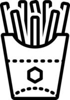 Line icon for french fries vector