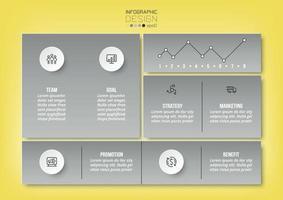 Plantilla de infografía de concepto de negocio o marketing. vector