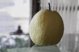 Single fresh Asian whole pear