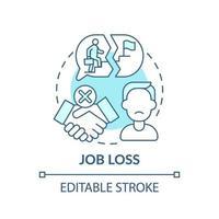 icono de concepto de pérdida de empleo vector