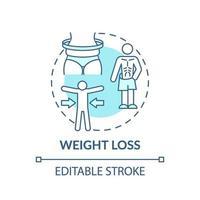 icono de concepto de pérdida de peso vector