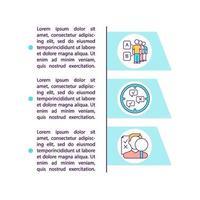 Icono de concepto de fuentes de investigación primaria con texto vector