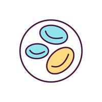 Blood sugar concentration color icon vector