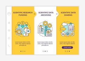 Components of research onboarding vector template