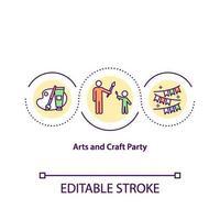 icono de concepto de fiesta de arte y artesanía vector