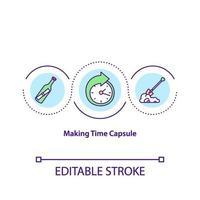 Haciendo el icono del concepto de cápsula del tiempo vector