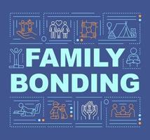 banner de conceptos de palabra de unión familiar vector