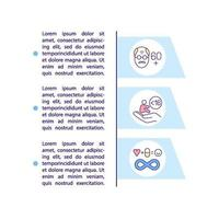 Age group for covid medication concept icon with text vector
