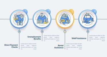 plantilla de infografía de vector de asistencia de alquiler