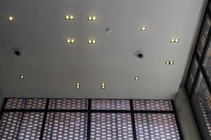 Lights on a ceiling photo