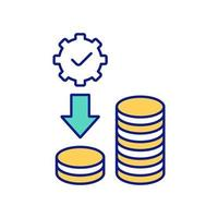 Quality of careful with money and resources color icon vector