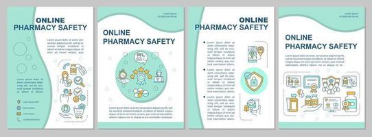 Online pharmacy brochure template vector