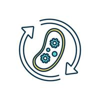 Biological process color icon vector