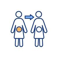 Human fertilization color icon vector