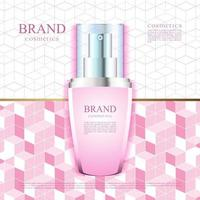 Pink pattern background for cosmetics advertising illustration vector