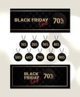 Elegant banner black friday sale with number price tag template vector