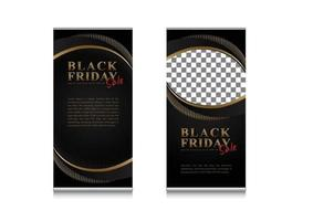 Luxury banner roll up black friday sale with picture slots template