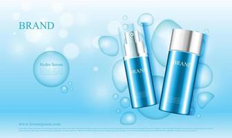 Cosmetics with water concept ad vector