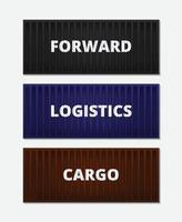 Banner logistics concept with containers vector