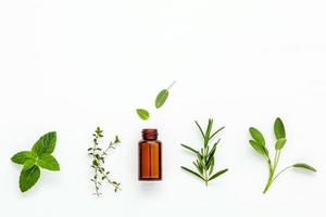 Essential oil and fresh herbs
