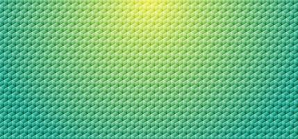 Abstract green gradient color geometric cube mosaic pattern background and texture.