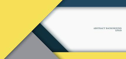 Banner web template yellow, grey, blue color triangle geometric overlap layer on white paper background design space for your text vector