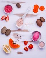 colorido cuidado de la piel orgánico plano foto