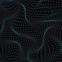 Abstract 3D science technology concept blue grid wavy wave background and texture. vector