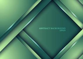 Template design abstract green nature gradient stripes overlap layer background with lighting. vector