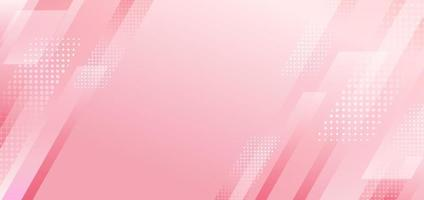 Abstract pink diagonal stripes geometric with halftone effect background. vector