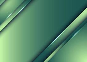 diseño de plantilla abstracto verde naturaleza degradado rayas superpuestas capa de fondo con iluminación. vector