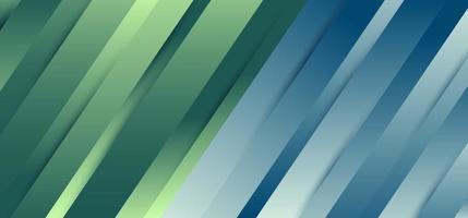 Fondo y textura dinámicos de la sombra del gradiente azul y verde de la línea diagonal superior abstracta. vector