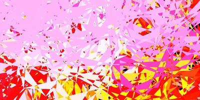 Light multicolor vector background with triangles.