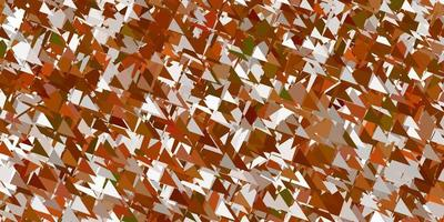 Light orange vector backdrop with triangles, lines.