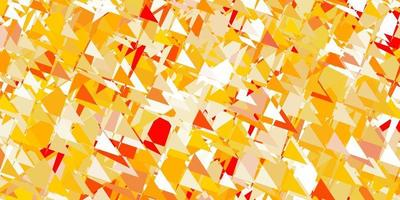 Light orange vector template with triangle shapes.