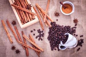 Coffee and cinnamon photo