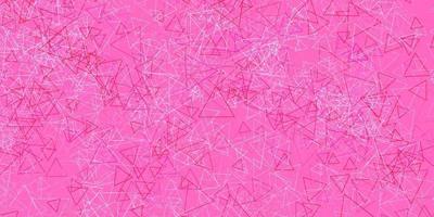plantilla de vector rosa claro con formas triangulares.