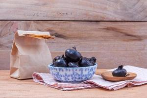 Bowl of water chestnuts photo