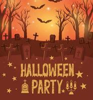 diseño de tarjeta de fiesta de halloween vector