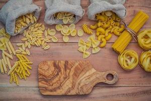 Pastas with a cutting board photo