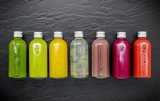 Bottles of juice photo