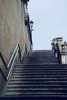 Stairs architecture in Bilbao city, Spain photo
