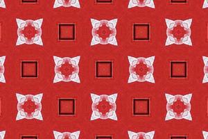 Fondo rojo con textura abstracta de líneas y formas.