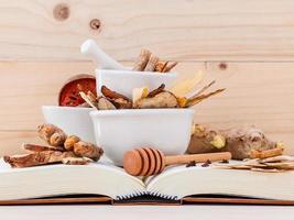 Alternative medicine on books photo