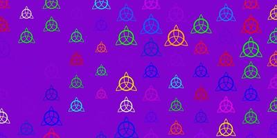 Light Pink, Green vector backdrop with mystery symbols.