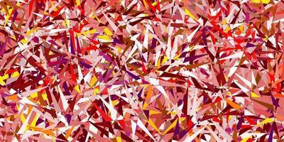diseño vectorial de color rosa claro, amarillo con formas triangulares. vector