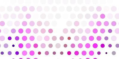 diseño vectorial de color rosa, violeta claro con formas circulares. vector