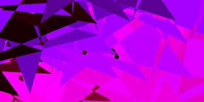 Dark purple, pink vector pattern with polygonal shapes.